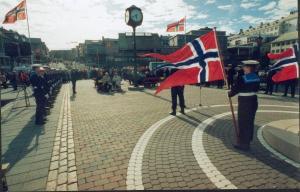 Markering av frigjøringsdagen 8. mai på Piren i Kristiansund