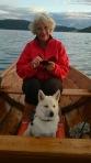 på fisketur sammen med mamma